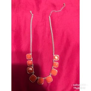 Silver with orange necklace